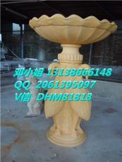 别墅大型组合喷泉雕塑生产厂砂岩天鹅流水盆