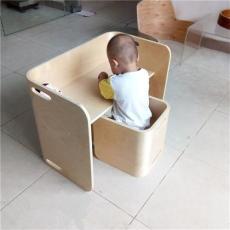 厂家供应环保木质儿童桌椅 曲木儿童餐桌椅