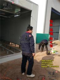 淄博市紅外線烤漆房安裝完畢 防火型烤房