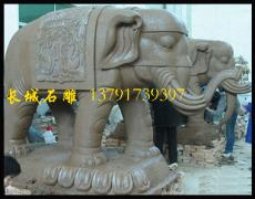 寺院石雕大象批发