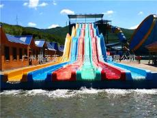 供應水上滑梯設備彩虹競賽滑梯