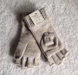 寧波景余帽子圍巾手套工廠針織半指翻蓋手套