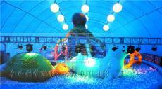 鯨魚島樂園氣模 兒童百萬海洋球樂園 臥龍