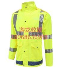 荧光黄反光透气不透水防汛雨衣