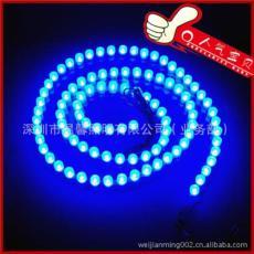 柔软透明乳白硅胶LED 防水长城软灯条96灯