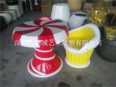 阳江大型商场玻璃钢家具休闲椅雕塑