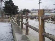 仿木栏杆 水泥仿木栏杆 景区栈道 护栏 假山