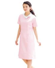 护士服装 医院长袖粉色 偏襟立领护士服