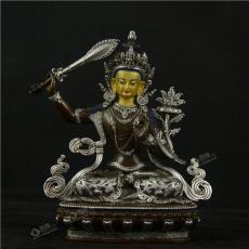 藏傳密宗文殊菩薩銅佛像 開臉 尼泊爾佛像廠