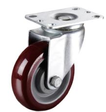 新疆振清脚轮3-5寸中型聚氨酯pu万向轮子厂