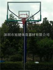 东莞横沥篮球架 社区埋地式透明板篮球架