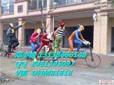园林玻璃钢雕塑大型仿真骑车5小丑表演雕像