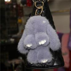 小號進口水貂毛裝死兔小兔子掛件手機掛飾