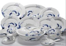 景德鎮釉中彩骨瓷餐具家用中式飯碗盤碟面碗