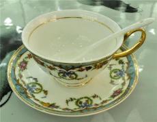 景德鎮高檔套裝陶瓷骨瓷咖啡杯碟勺帶勺子
