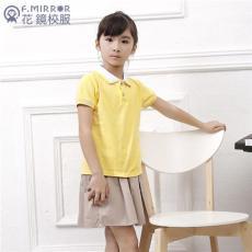 男女童運動休閑短袖兩件套幼兒園園服定做