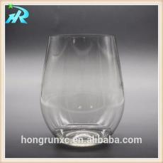 供应PET塑料厚底酒杯 玻璃质感果汁杯
