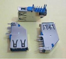 usb侧插长体母座usb3.0测立式90度