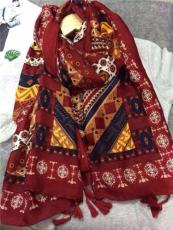 越緹紡織時尚民族風爆款巴厘紗圍巾披肩