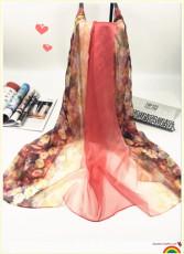 時尚潮流小碎花數碼印花絲巾廠家直銷批發