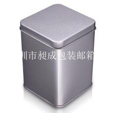 长方茶叶纯色铁罐包装