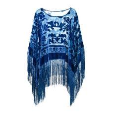 越缇纺织时尚新款斜纹柔漫思百搭牡丹披肩