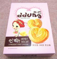 国产ddung冬己 心吻韧性饼干100/200g 香浓