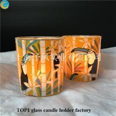 上海金山玻璃蠟燭杯加工生產定制批發燭臺