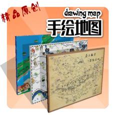 浙江宁波 手绘地图