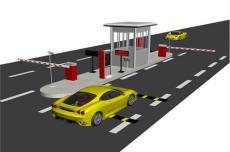 蘇州停車場小區廠區車牌識別自動道閘系統
