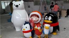 湖北宜昌玻璃鋼卡通小公仔人偶雕塑報價廠家