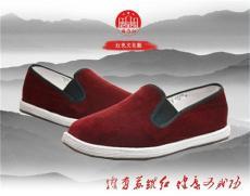 苏维红养生保健布鞋灯芯绒面料红色文化布鞋