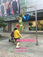 玻璃钢打篮球仿真雕像广场灌篮造型人物雕塑