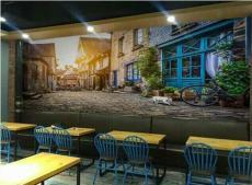 酒吧餐饮烤吧火锅个性大型背景墙壁画3D壁纸