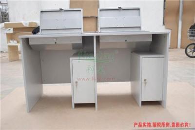 广东翻转电脑桌隐藏显示器键盘鼠标双人培训