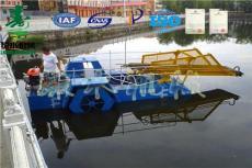 河北全自动割草船 水葫芦割草船 湖面保洁船