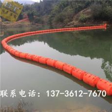 自贡湖面拦污塑料浮筒pe材质