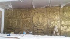 广西玻璃钢室内外浮雕壁画 园林防铜浮雕