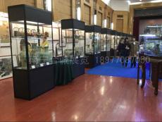 广西南宁黑色玻璃矮柜出租 展览珠宝展柜子