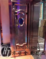 軟包包廂門生產廠家鏡面玫瑰金不銹鋼ktv門