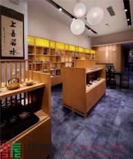 广东茶文化展柜 古香古色茶具展示专卖店柜