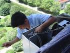 廣州美的空調維修拆裝安裝加雪種先進的檢測