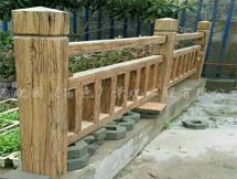 湖南郴州仿木护栏