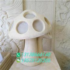 砂岩蘑菇造型透光灯人造石庭院镂空灯罩雕塑