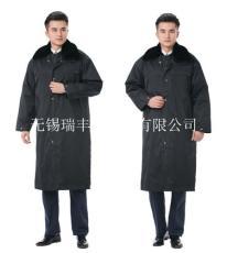 保安冬装棉大衣安保物业可拆卸内胆棉大衣定做