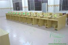廣東優質高密度板翻轉電腦桌 學生培訓桌