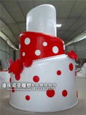 重庆泡沫雕刻道具蛋糕周年庆