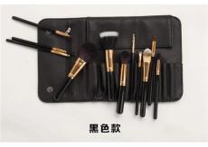 化妆套刷外贸热卖红色黑化妆包便携式化妆刷