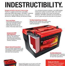 美國ODYSSEY純鉛蓄電池原裝進口PC925