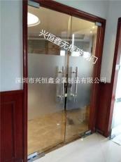 深圳市南山定做无框玻璃门感应玻璃门维修